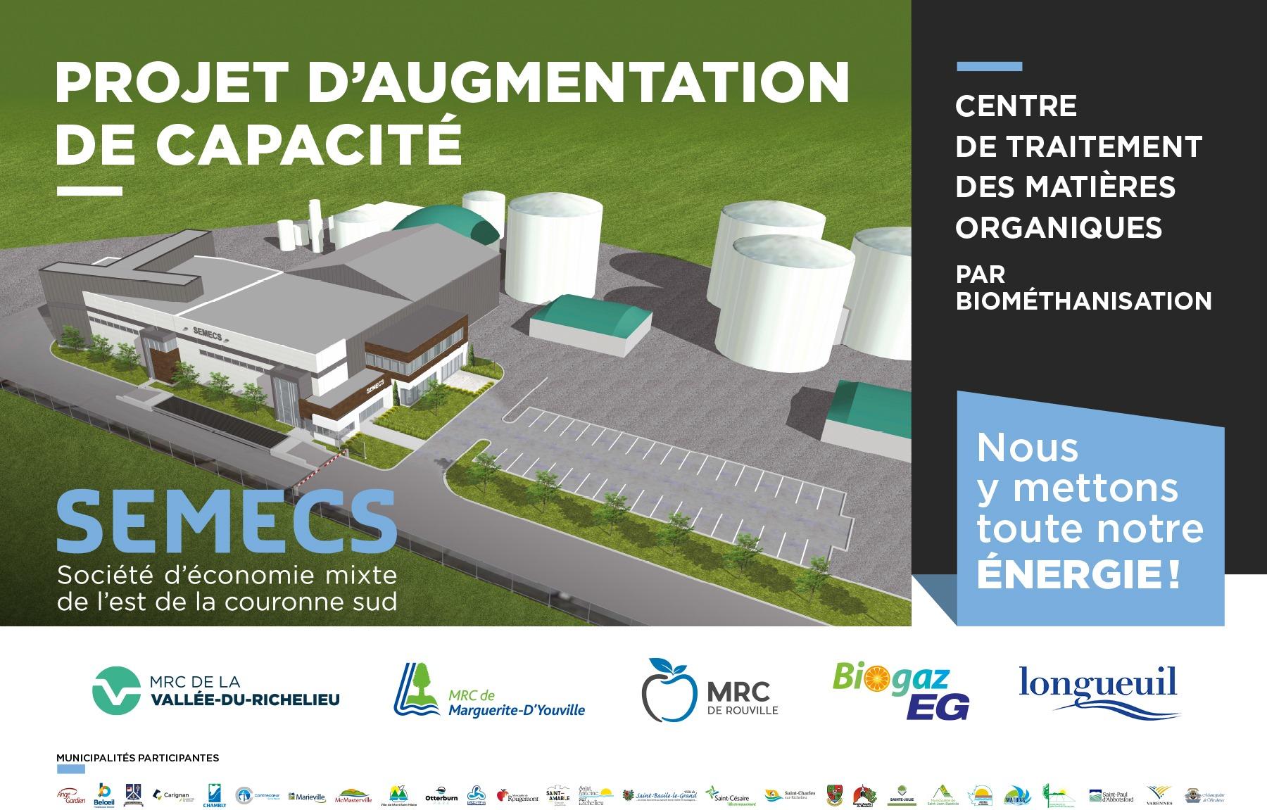 Centre de traitement des matières organiques à Varennes