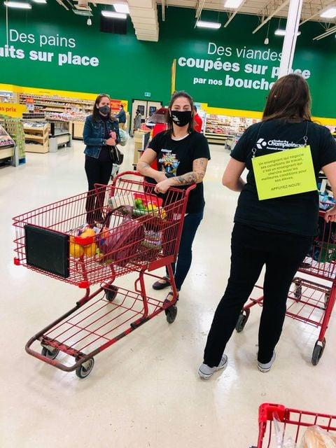 Mobilisation épicerie Syndicat de Champlain