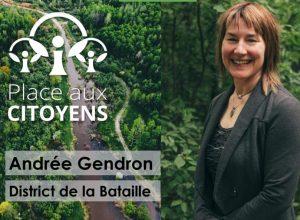 Andrée Gendron, candidate pour Place aux citoyens à La Prairie (Photo: Facebook - Place aux citoyens)