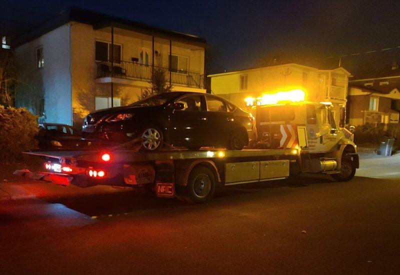 Un américain a été arrêté à Longueuil lundi après une poursuite policière