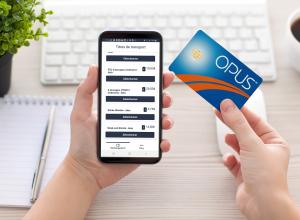 Recharge de carte OPUS par téléphone intelligent