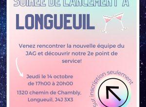 Longueuil accueille un point de service pour JAG le jeudi