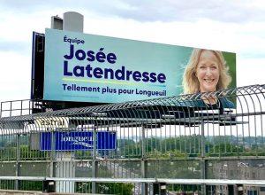 Le panneau publicitaire de Josée Latendresse fait réagir