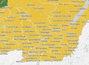 La Montérégie passe en zone jaune