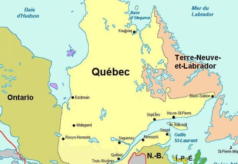 Des zones aux couleurs plus pâles au Québec