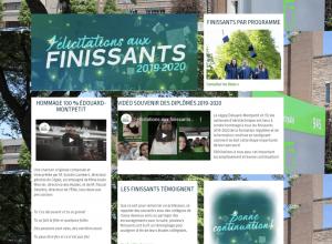 Le cégep Édouard-Montpetit rend hommage de façon virtuelle à ses finissants