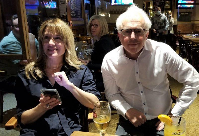 Le député Denis Trudel le soir des élections fédérales