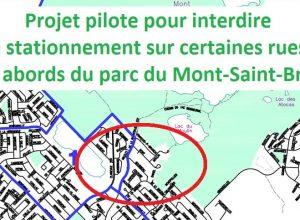 Un projet pilote pour interdire le stationnement autour du parc du Mont-Saint-Bruno