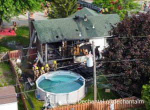 Un incendie cause des dommages de 450 000 $ à Brossard