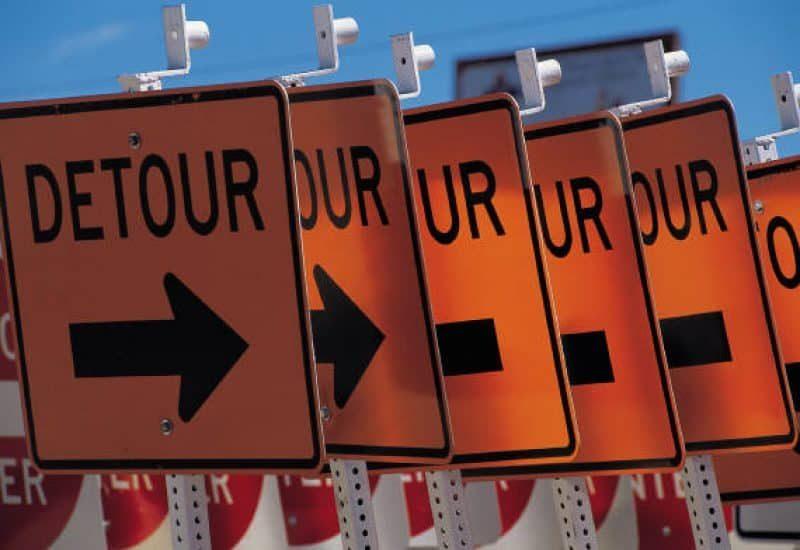 Fermetures de ponts et de routes ce week-end sur la Rive-Sud