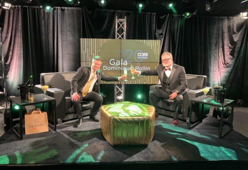 Le Gala Dominique-Rollin 2021 de la Chambre de commerce et de l'industrie de la RIve-Sud a été diffusé sur le web. (Photo: CCIRS/ Facebook)