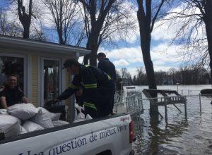 Des équipes de La Prairie en renfort contre les inondations
