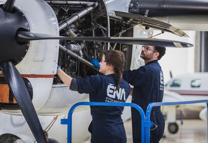 Les étudiants de l'École nationale d'aérotechnique ont reçu une aide financière. Photo: Courtoisie.