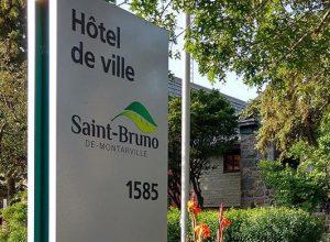 Facade de l'hôtel de ville de Saint-Bruno