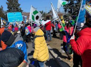 Le personnel professionnel des établissements scolaires tient une journée de grève de 24 heures ce mercredi. Source : Katina Diep