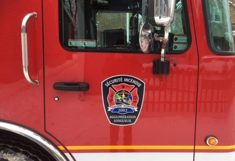 pompiers du Service de sécurité incendie de l'Agglomération de Longueuil.